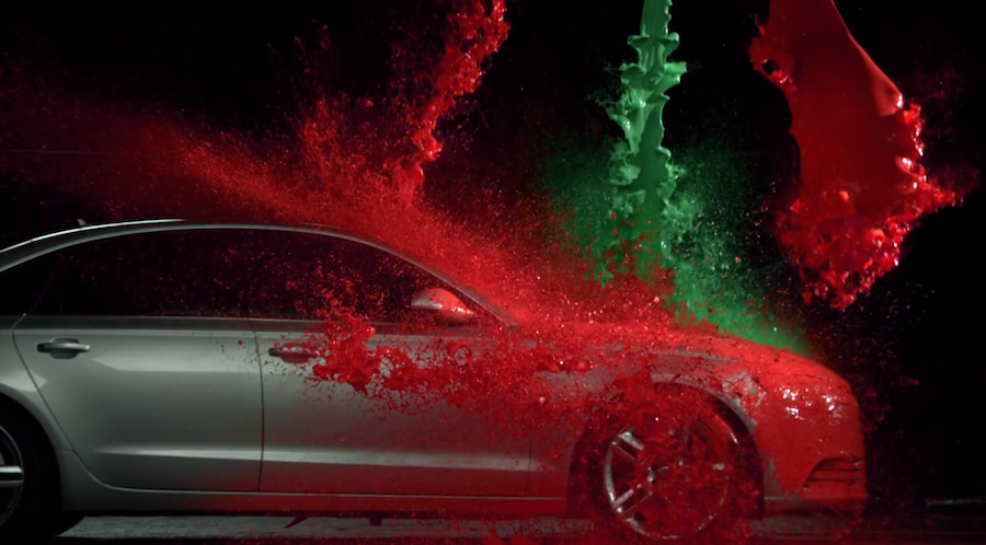 Paint dropping on a car