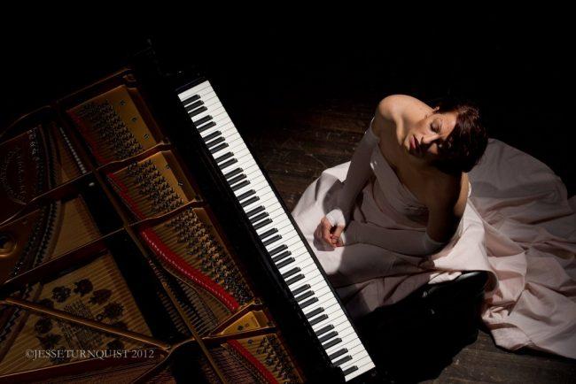 Amanda Palmer at piano