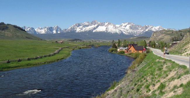 River with mountains in background