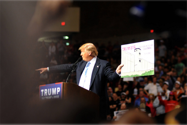 Donald Trump at a campaign rally.